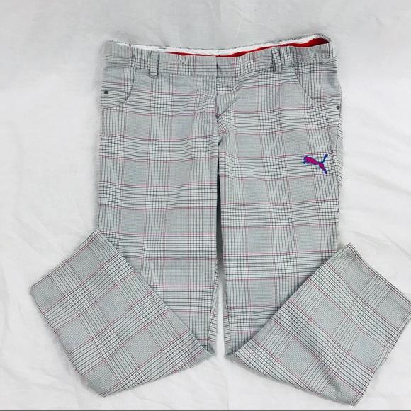 Women Puma Sport Life Style Plaid Golf Pants. M 5ba3b2c1df030744d9e96097 eceebce628